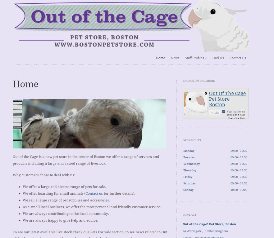 Out of the Cage – The site is up!