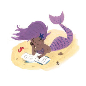 Mermaid Reading Lucy Dillamore Illustration