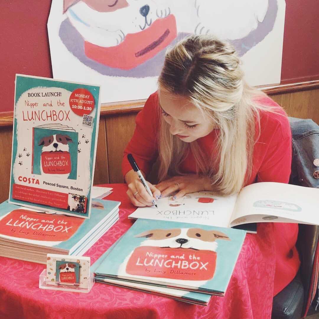 Lucy Dillamore Book Launch Nipper and the Lunchbox Costa Coffee Boston Lincolnshire