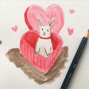 Valentines Bunnies Lucy Dillamore Illustration