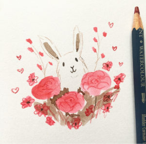 Valentines Bunnies Lucy Dillamore Illustration