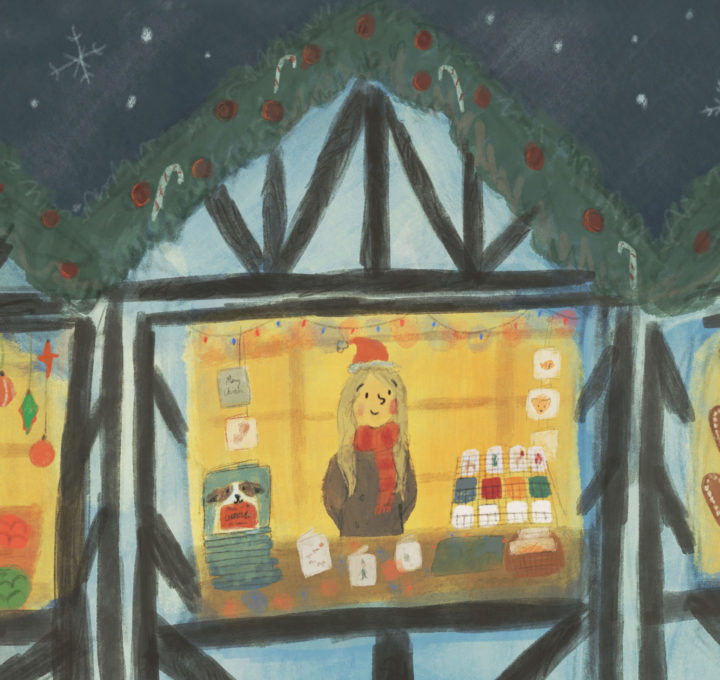 Boston Lincolnshire Christmas Market 2019 Lucy Dillamore Illustration