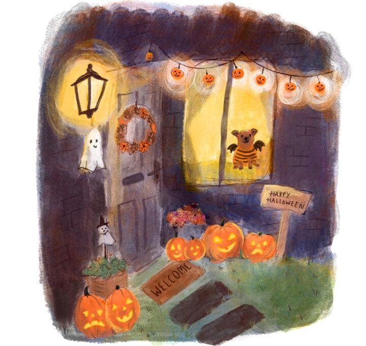Halloween house lucy dillamore