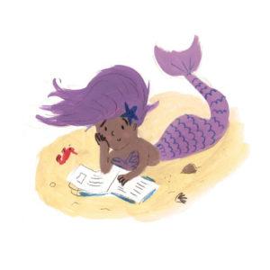 Mermaid Reading Lucy Dillamore Illustration