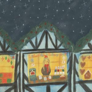 Boston Lincolnshire Christmas Market 2019 Lucy Dillamore Illustration