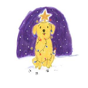 Labrador Christmas Card